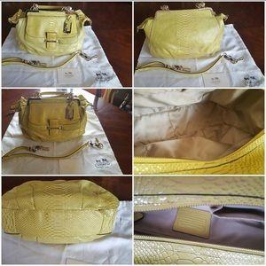 Coach Madison Yellow Python satchel